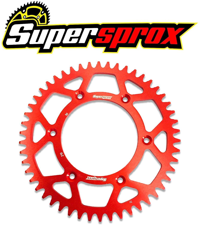 corona superprox aluminio 210 50T-520 ROJO HONDA CRF 230F/250R/450R/150F/CR 125-250