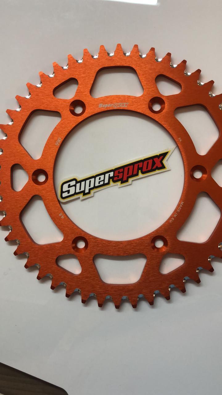 corona superprox aluminio 990 48T-520 NARANJA HUSQVARNA FC 250/350FE/KTM EXC-F 250-350/EXC 300-450/SX-F 250-350