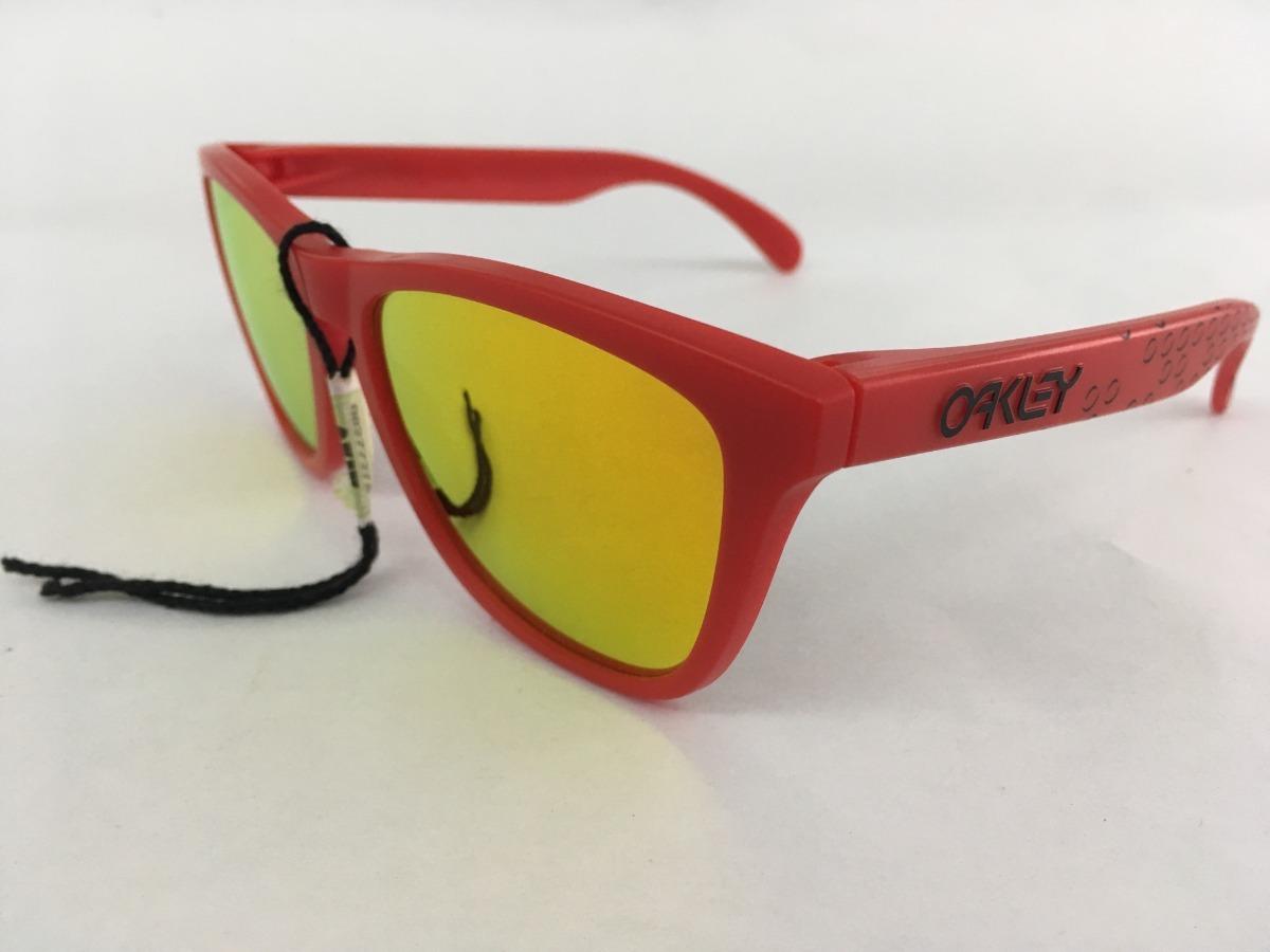 oakley anteojo frogskins matte red w/fire iridium