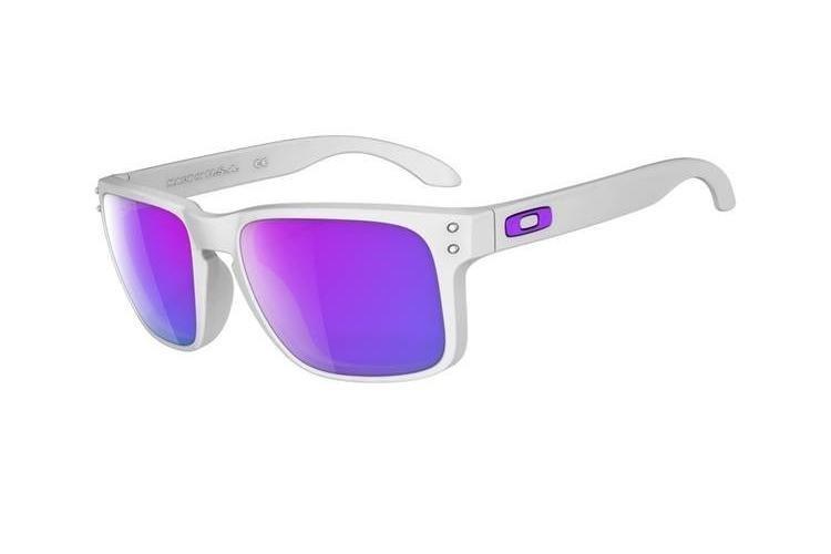 oakley anteojo holbrook matte white w/violet iridium