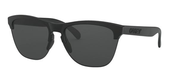 oakley anteojo frogskins lite matte black w/ grey