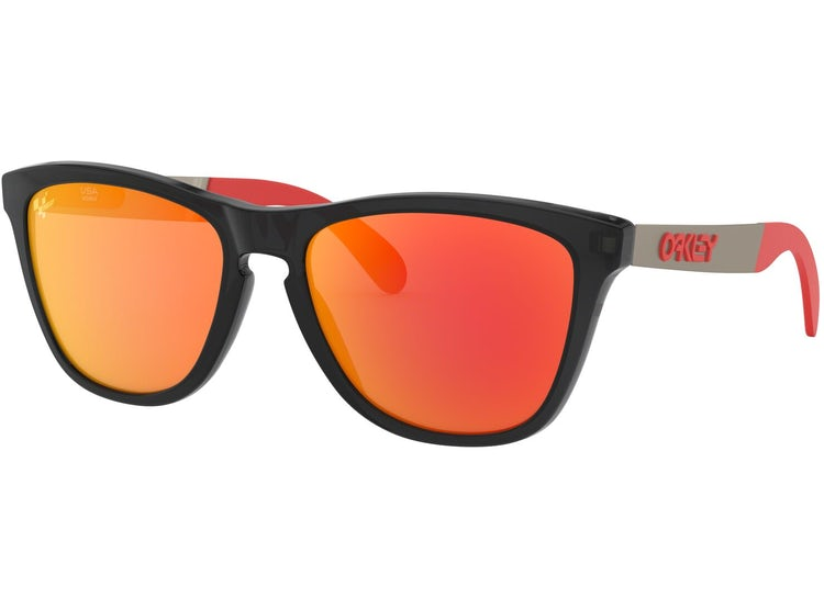 oakley anteojo frogskins mix matte black ink w/ przm ruby