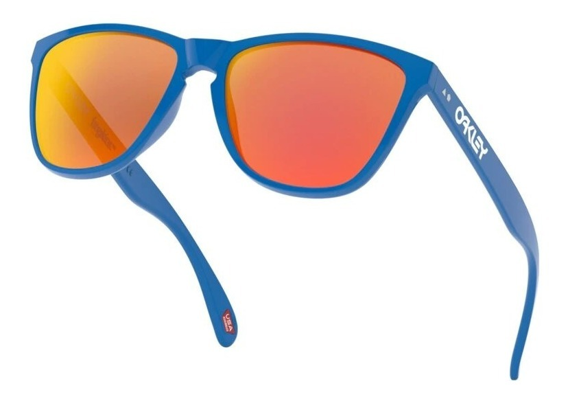 oakley anteojo frogskins 35th anivers primary blue prizm ruby