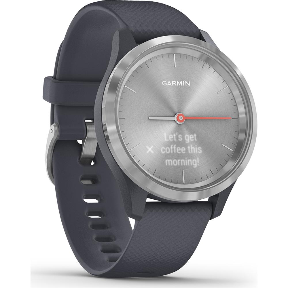 reloj garmin vivomove 3s ww sport 39mm plateado/azul silicona