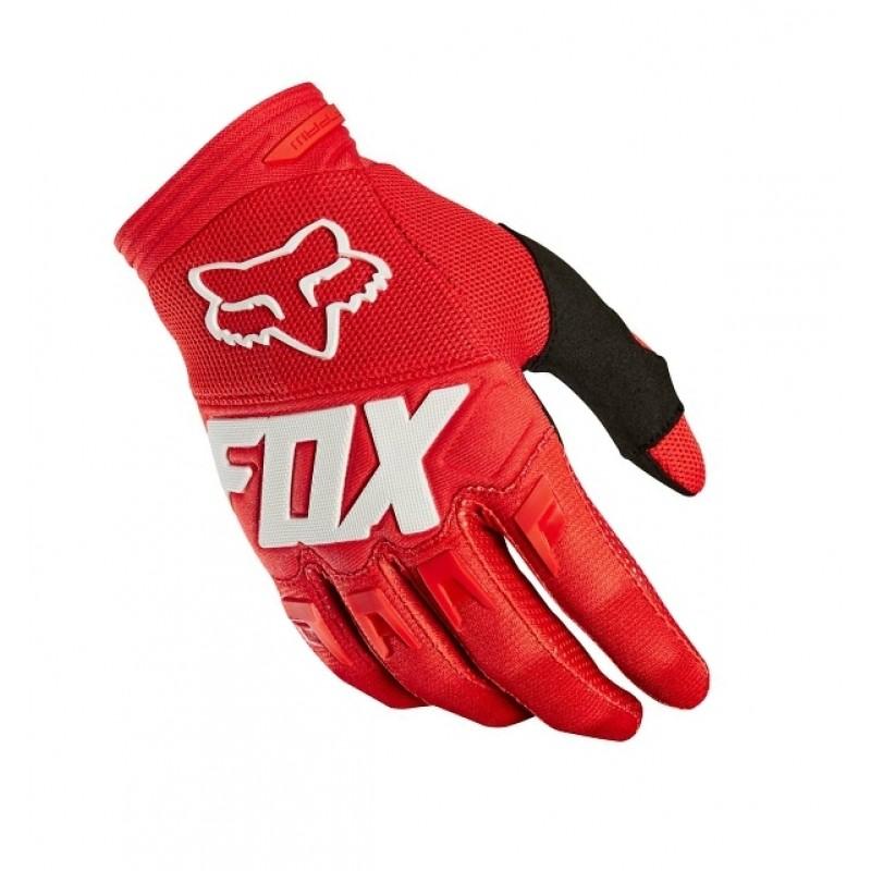guante dirtpaw race talle m rojo fox