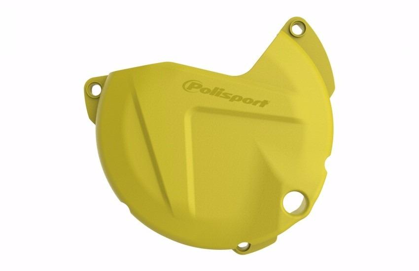 protector tapa embrague suzuki rmz450 11/17 amarillo polisport