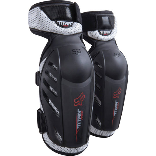 codera fox titan race elbow guard negra talle l/xl