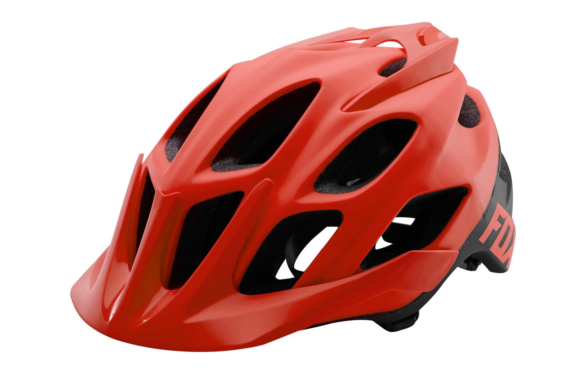 casco fox flux (bici) orange S/M