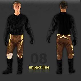 pantalon acerbis impact marron talle 30
