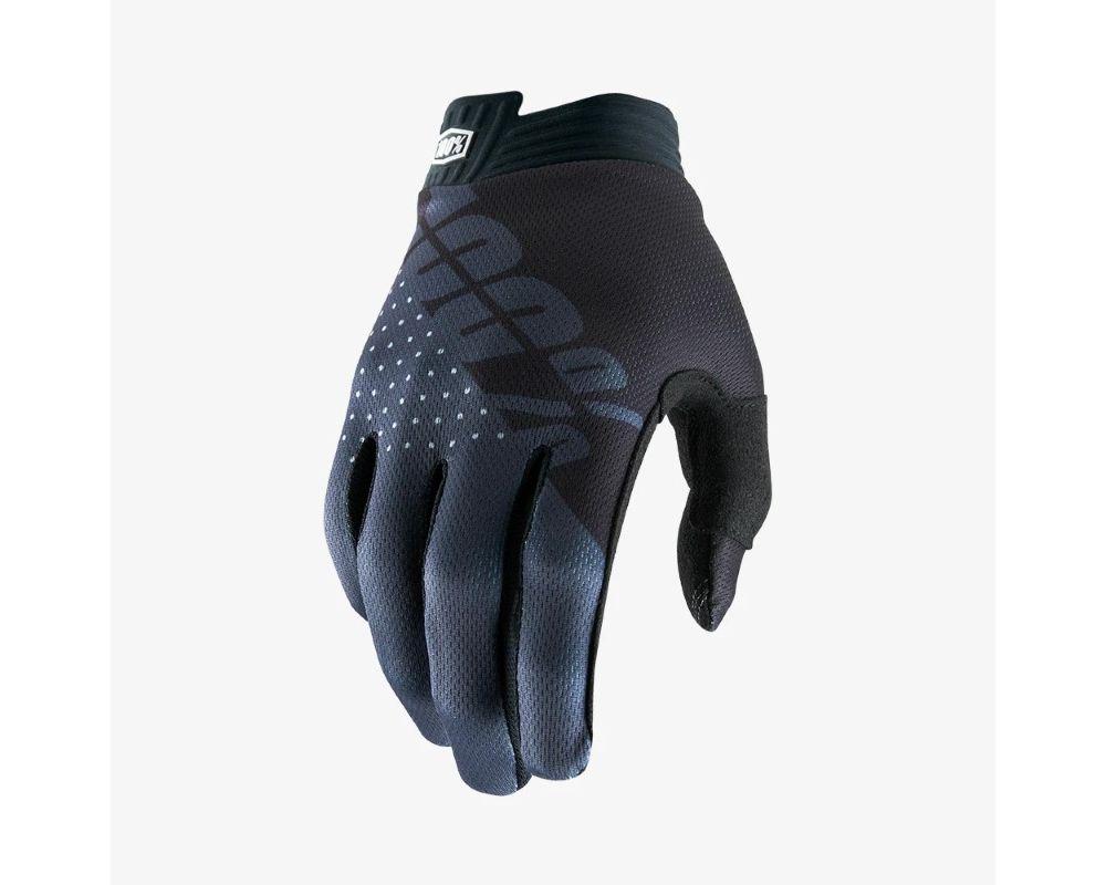 guante 100% negro/gris talle m