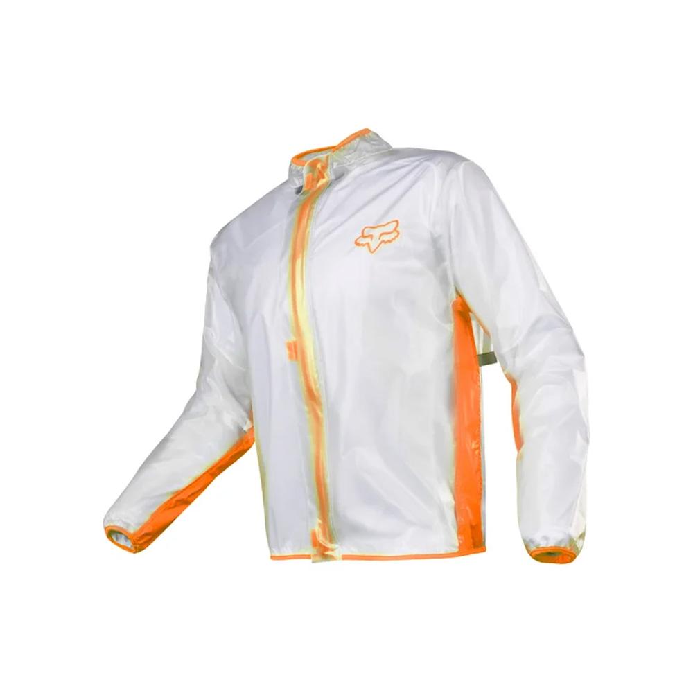 campera lluvia fox transparente talle m (naranja)