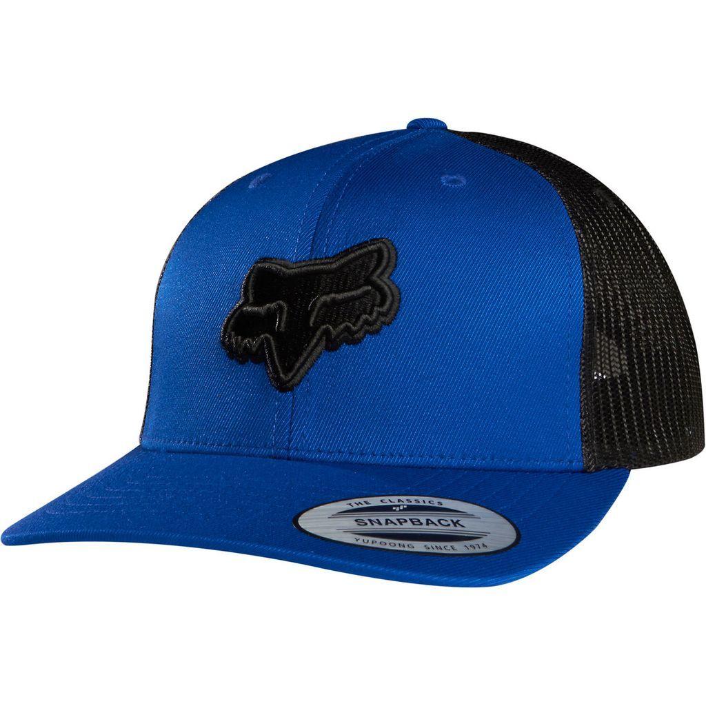gorra fox binding snapback hat azul talle unico