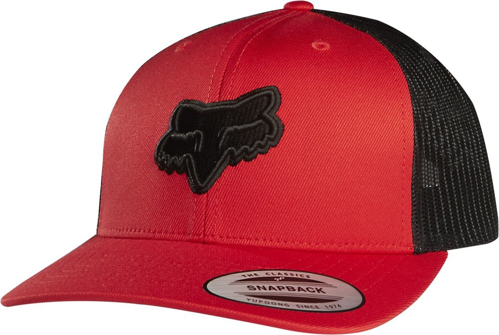 gorra fox binding snapback hat roja talle unico