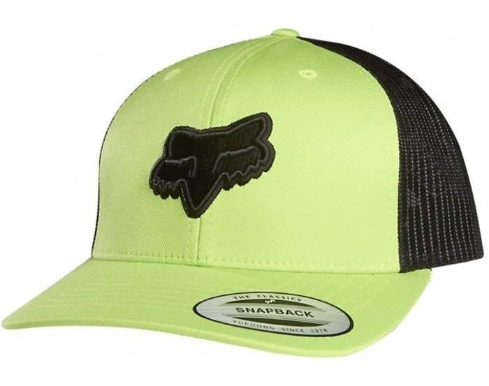 gorra fox binding snapback hat verde talle unico