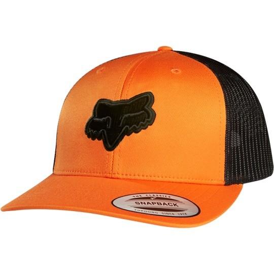 gorra fox binding snapback hat naranja talle unico