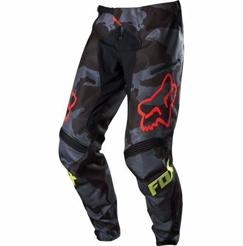 pantalon demo DH black/camo talle 34 fox