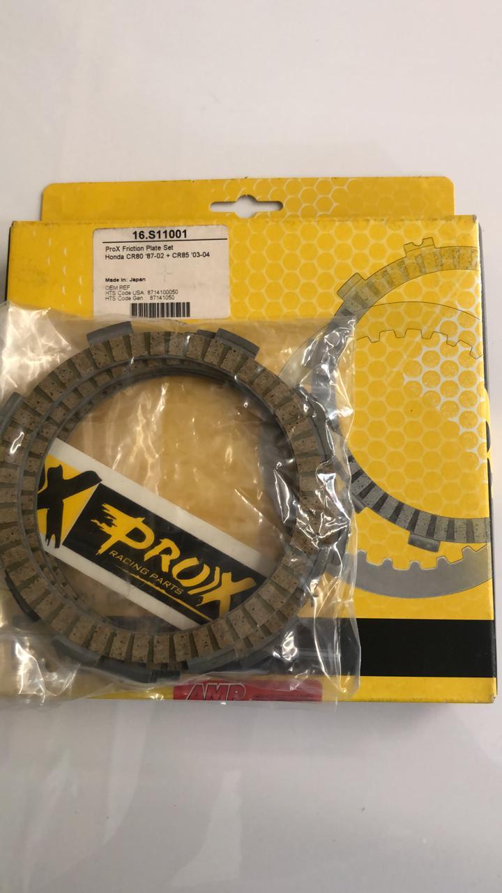 discos embrague prox honda cr80 87/02+8503/04 set