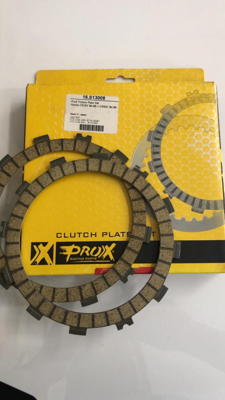 discos embrague prox honda cr250 84/89 set
