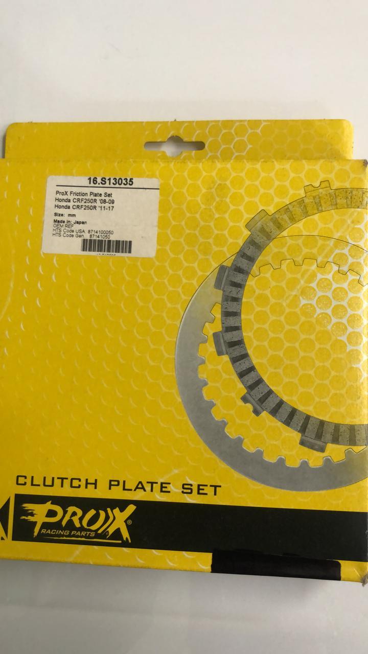 discos embrague prox honda crf250 08/09+11/17+ x04/17 set