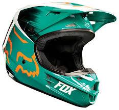 casco fox v1 vandal green/orange talle m (57-58cm)