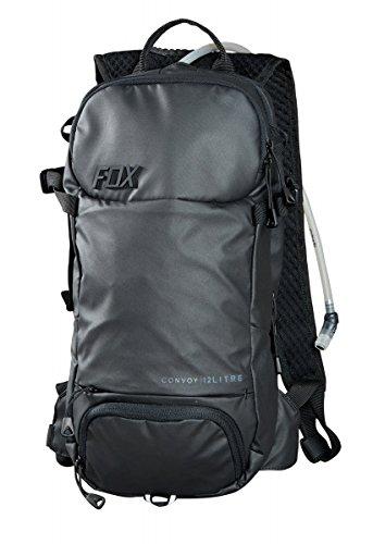 mochila fox convoy hydration pack negra 12 litros (bolsa de 3 litros de agua)