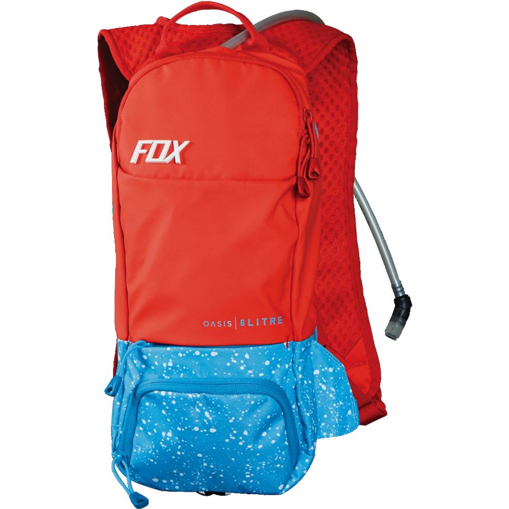 mochila fox oasis hydration pack roja 6 litros (capacidad de 2 litros de agua)