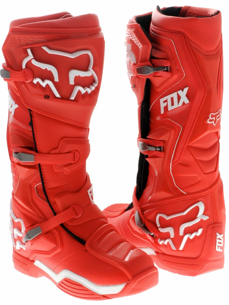 bota fox comp 8 talle usa 13 roja