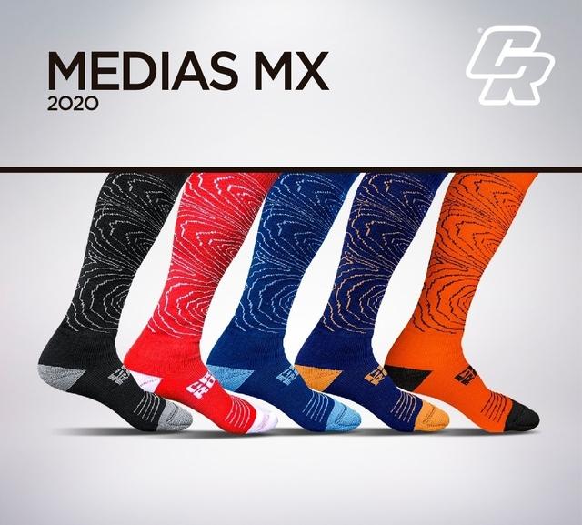medias mx crossroad algodon roja/blanco