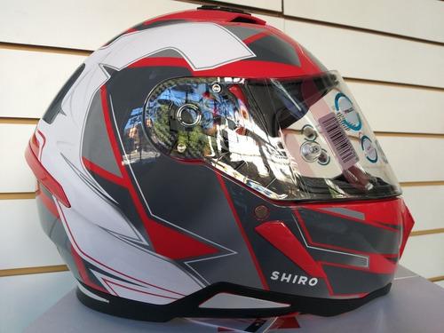 casco shiro sh-890 h-05 rojo talle XXL