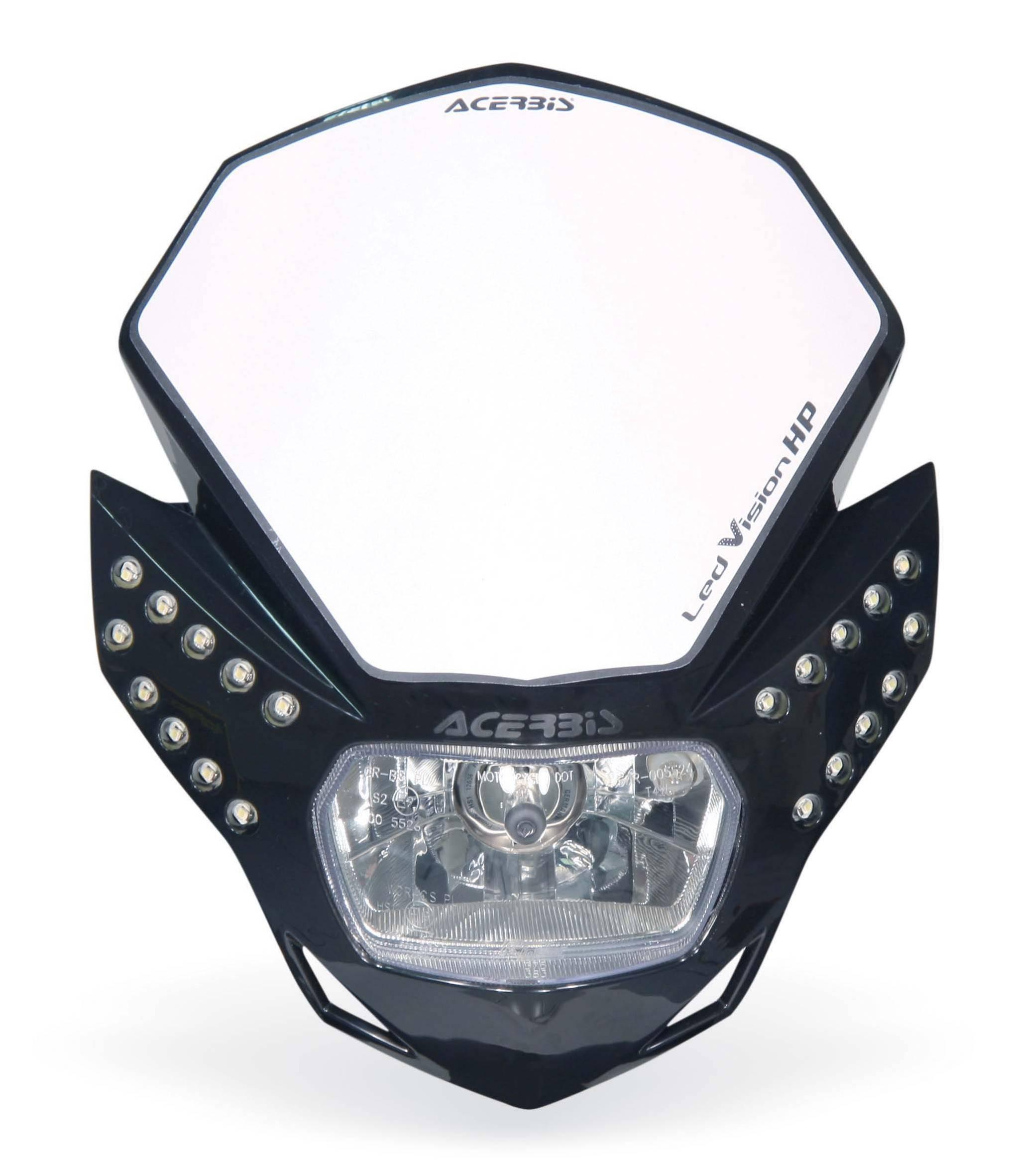 mascara faro led vision hp acerbis negro universal