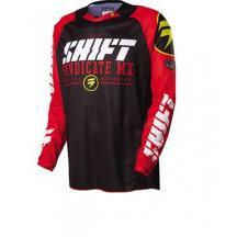 remera mx shift strike negra/rojo syndicate talle xxl