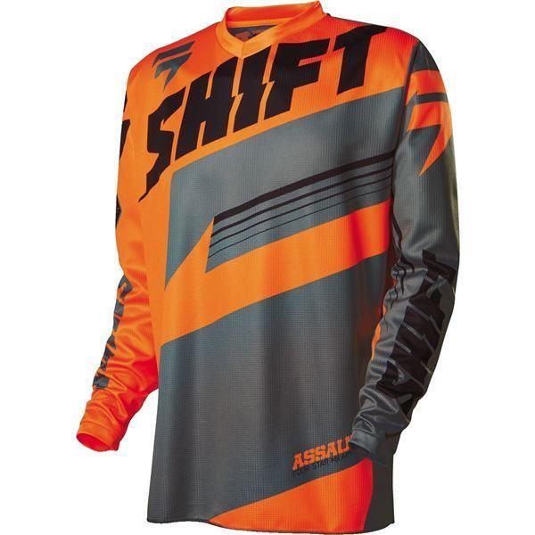 remera mx shift assault naranja/gris talle l