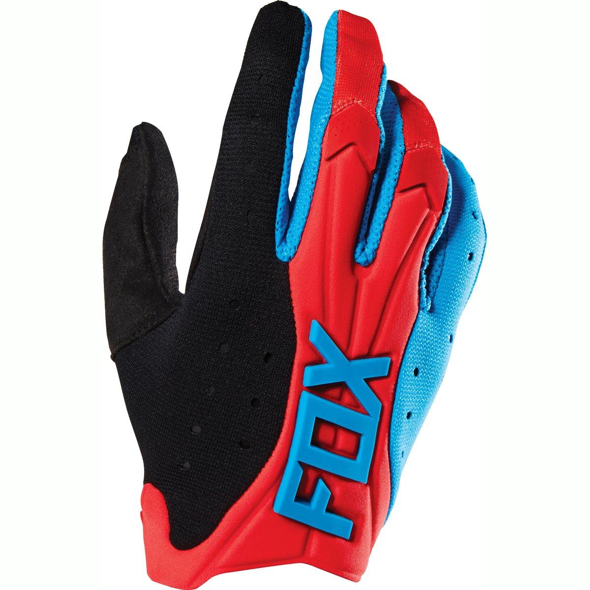 guante fox flexair azul/rojo talle l