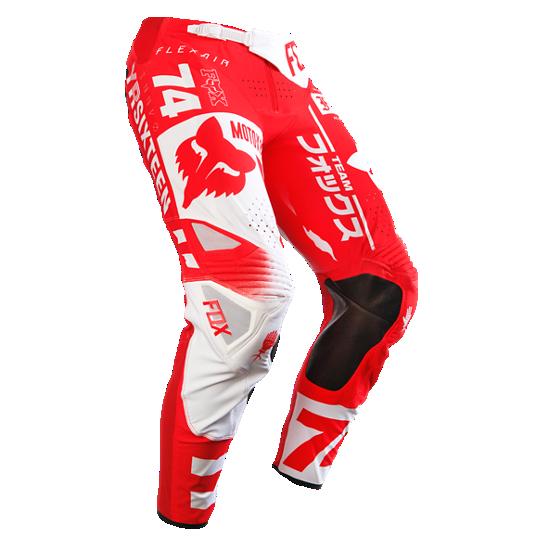 pantalon fox flexair union talle 34 color rojo/blanco
