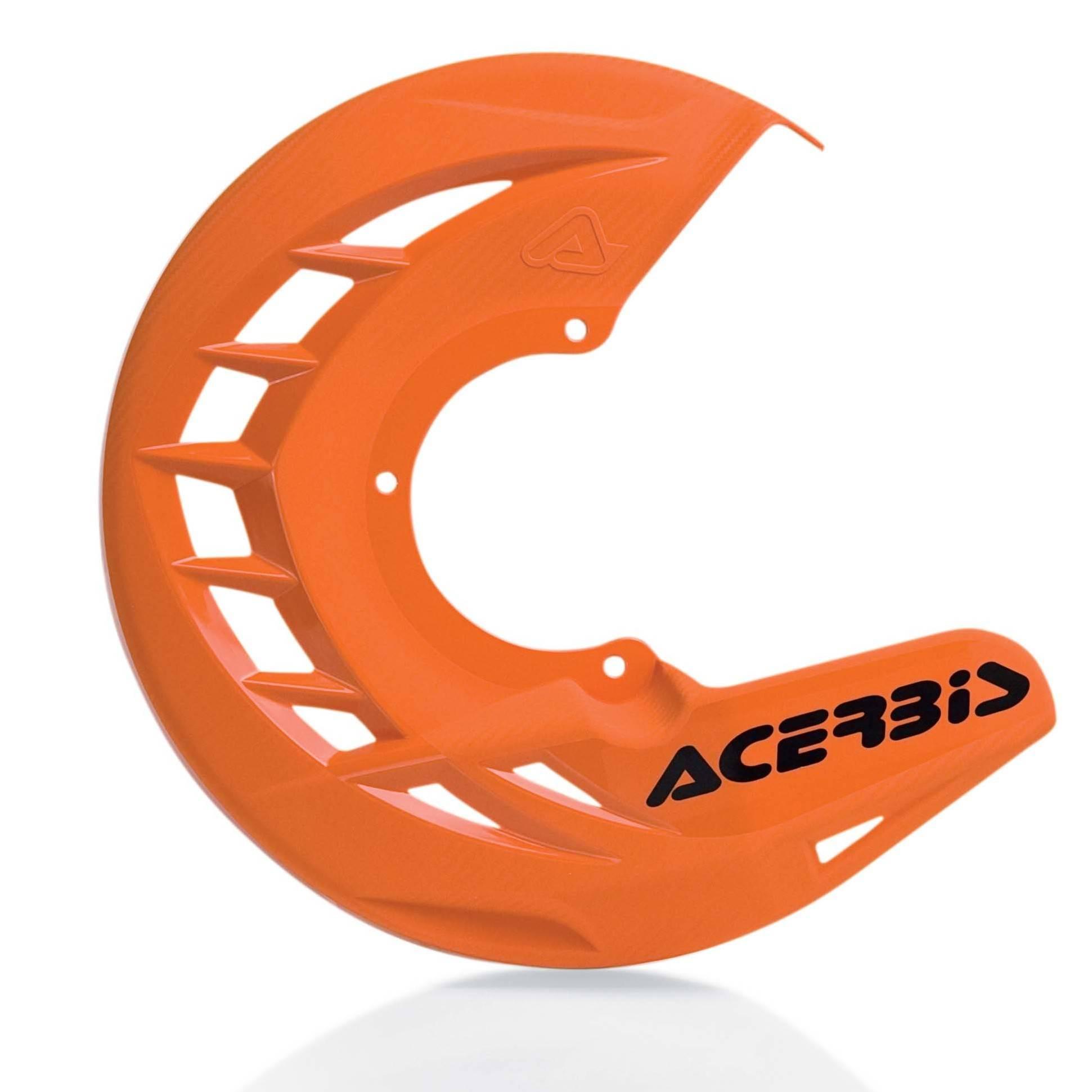 cubre disco delantero x-brake naranja acerbis