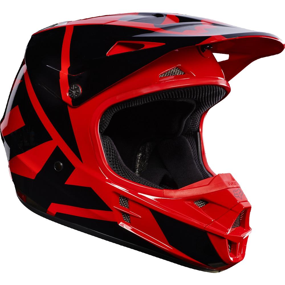 casco fox v1 race red talle l (59-60cm)