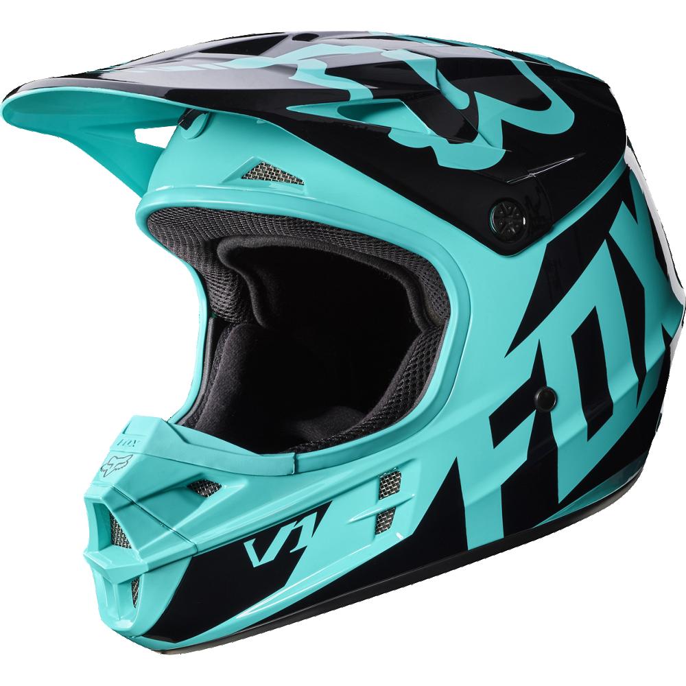 casco fox v1 race green talle xl (61-62cm)