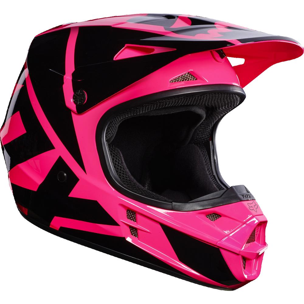 casco fox v1 race pink talle l (59-60cm)