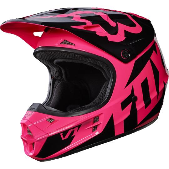 casco fox v1 race pink talle m (57-58cm)