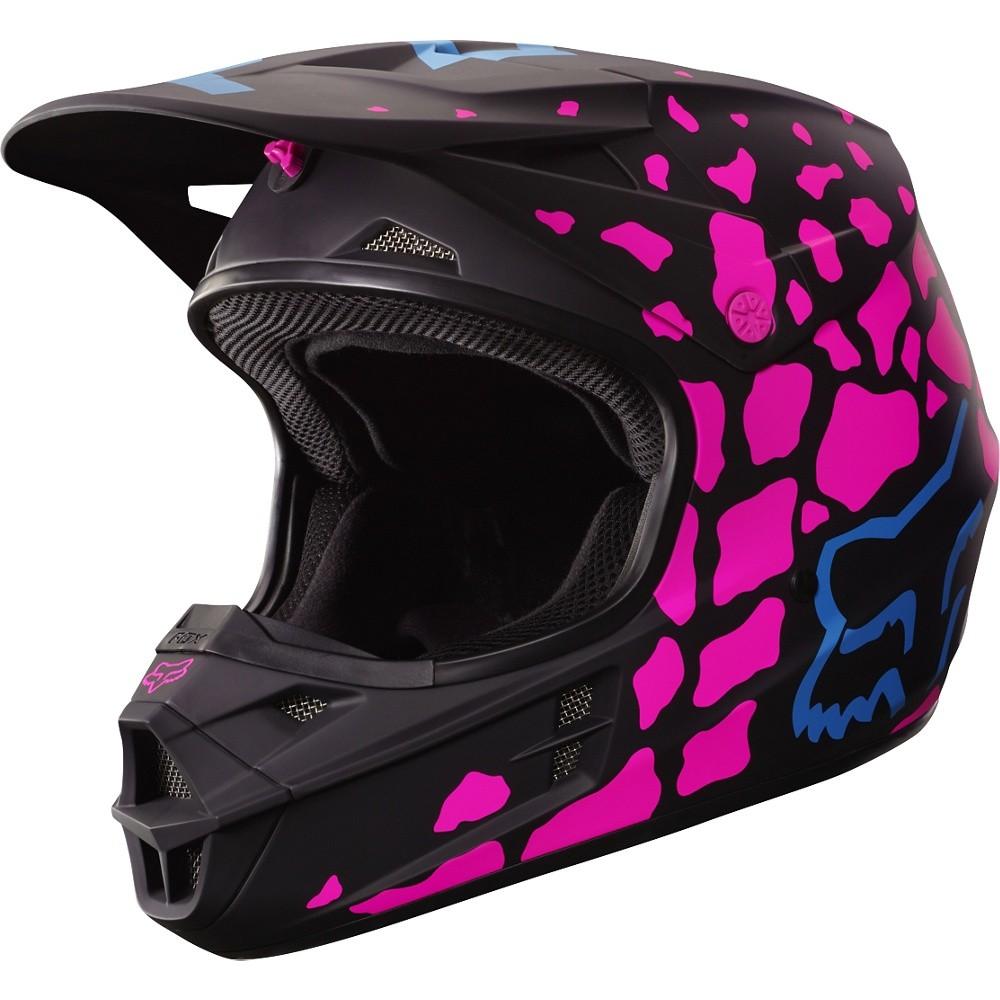 casco fox v1 grav black/pink talle l (59-60cm)
