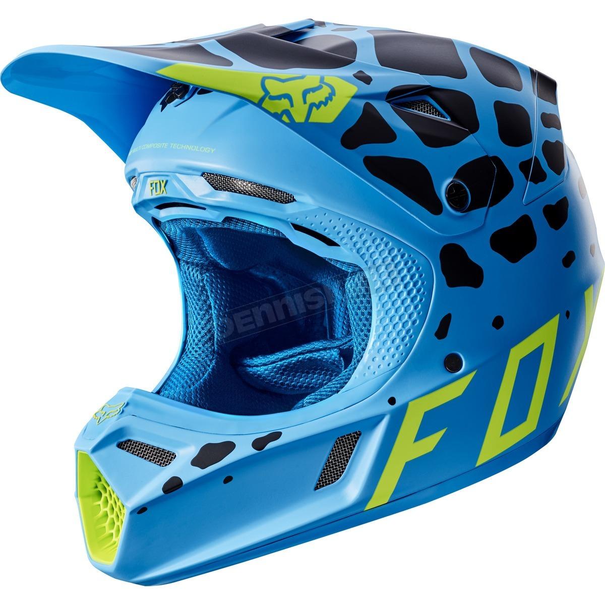 casco fox v3 grav blue talle xl (61-62cm)