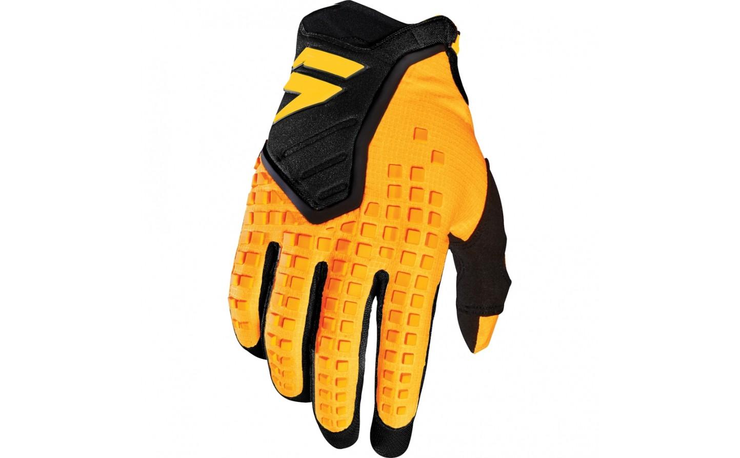 guante shfit 3lack pro glove amarillo/negro talle l