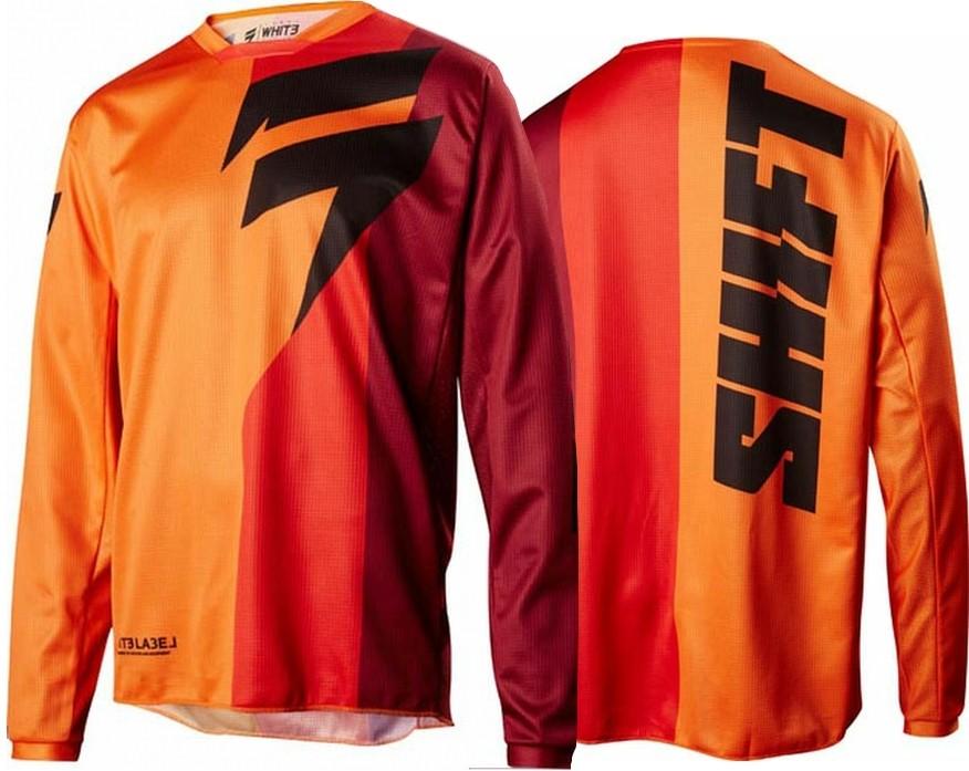 remera mx shift label whit3 tarmac naranja talle xxl