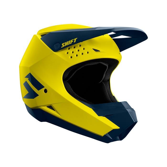 casco shift whit3 amarillo/negro talle l
