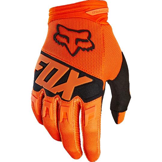 guante dirtpaw race talle xxl naranja fox