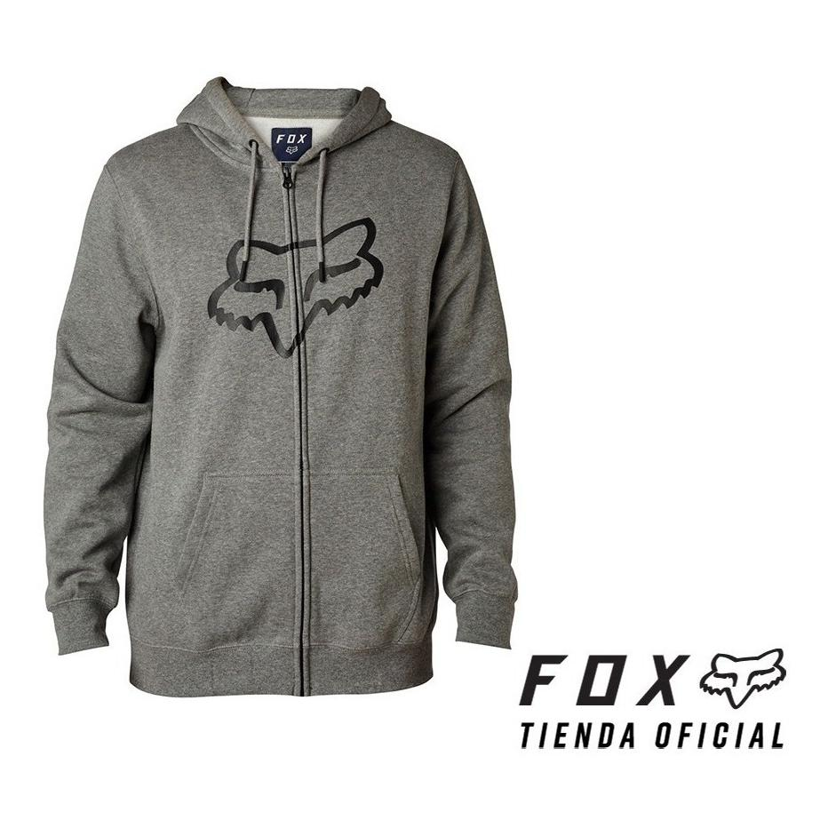 campera fox legacy foxhead gris talle s