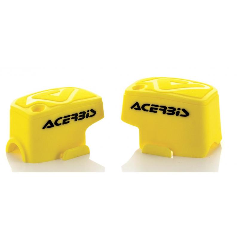 cubre tapas freno embrague amarillo universal acerbis