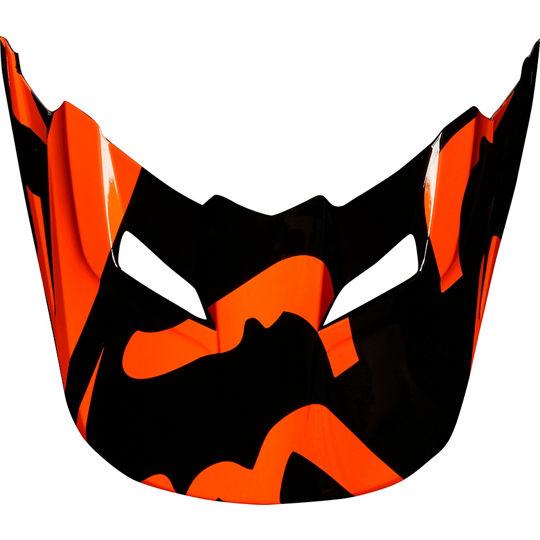 visera casco fox v1 2018 naranja