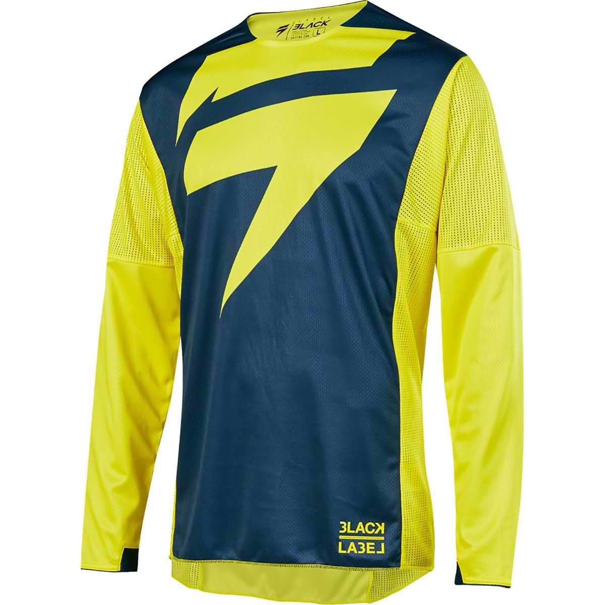 remera mx shift mainline amarillo/azul talle l