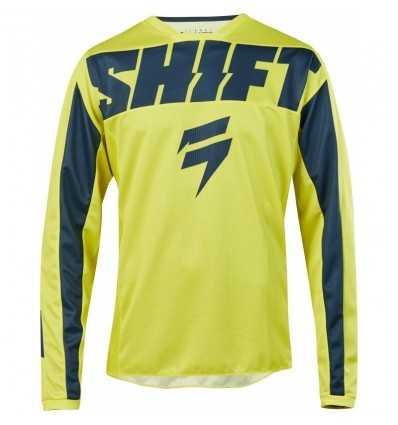 remera mx shift whit3 york amarillo/azul talle l